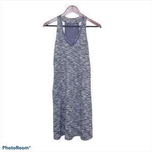Purple Gray White Racerback Athletic Dress Medium